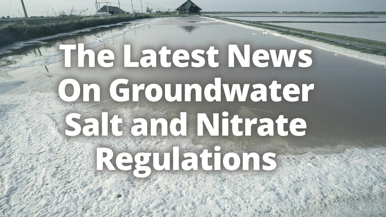 Overloaded salt and nitrates in a dairy lagoon
